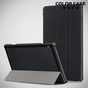 Чехол книжка для Lenovo Tab M10 TB-X605F  - Черный