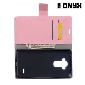 Чехол книжка для LG G Vista 2 H740 - Розовый