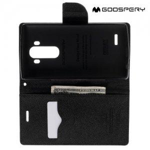 Чехол книжка для LG G4 H818 H815 Mercury Goospery - Черный