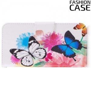 Чехол книжка для LG G6 H870DS - с рисунком Бабочки
