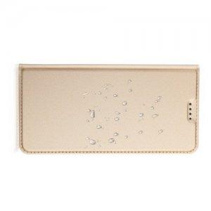 Чехол книжка для LG G7 ThinQ с магнитом и отделением для карты - Золотой