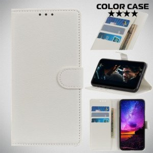 Чехол книжка для LG G8s ThinQ - Белый