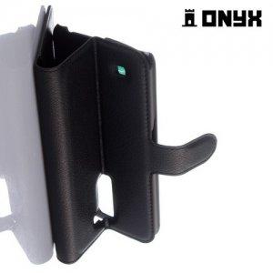 Чехол книжка для LG K10 K410 - Черный
