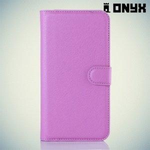 Чехол книжка для LG K10 K410 - Фиолетовый