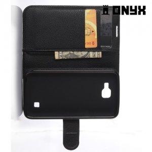 Чехол книжка для LG K4 K130E - Черный