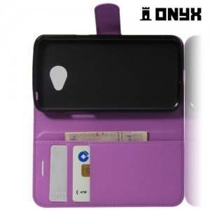 Чехол книжка для LG K5 - Фиолетовая