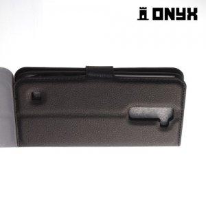 Чехол книжка для LG K7 X210ds - Черный