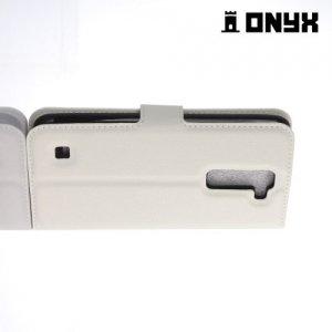 Чехол книжка для LG K7 X210ds - Белый