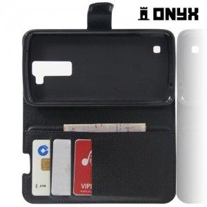 Чехол книжка для LG K8 - Черный