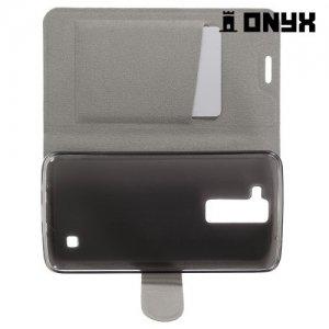 Чехол книжка для LG K8 K350E - Белый