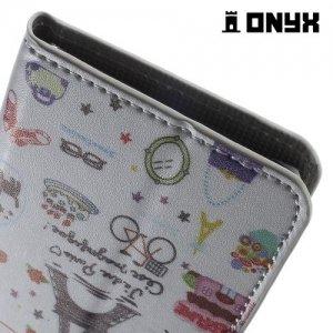 Чехол книжка для LG Nexus 5X - с рисунком Париж
