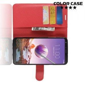 Чехол книжка для LG Q Stylus+ Q710 - Красный