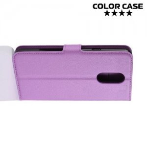 Чехол книжка для LG Q Stylus+ Q710 - Фиолетовый