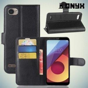 Чехол книжка для LG Q6 M700AN / Q6a M700 - Черный