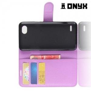 Чехол книжка для LG Q6 M700AN / Q6a M700 - Фиолетовый