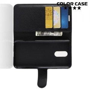 Чехол книжка для LG Q7 / Q7+ / Q7a - Черный