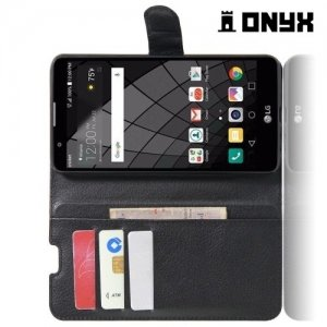 Чехол книжка для LG Stylus 2 - Черный