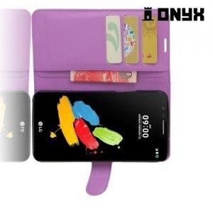 Чехол книжка для LG Stylus 3 M400DY - Фиолетовый