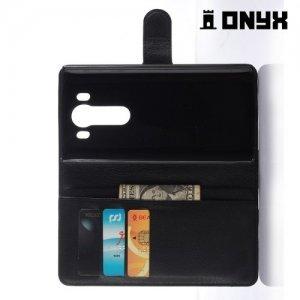 Чехол книжка для LG V10 - Черный