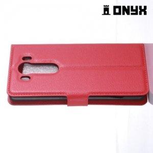 Чехол книжка для LG V10 - Красный