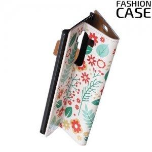 Чехол книжка для LG V10 - с рисунком Цветы