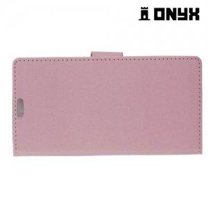 Чехол книжка для LG X cam - Розовый
