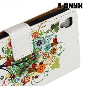 Чехол книжка для LG X Power K220DS  - Дерево счастья