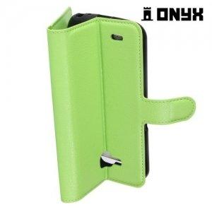 Чехол книжка для LG X venture M710DS - Зеленый