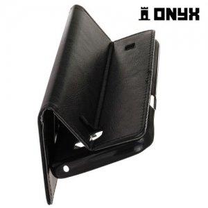 Чехол книжка для LG X5 - Черный