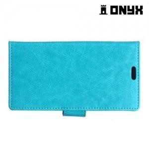 Чехол книжка для LG X5 - Голубой