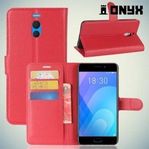 Чехол книжка для Meizu M6 Note - Красный
