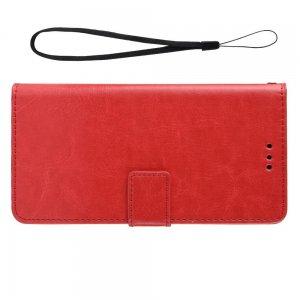 Чехол книжка для Meizu Note 9 с магнитом и отделением для карты - Красный