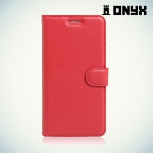 Чехол книжка для Meizu Pro 6 - Красный
