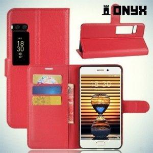 Чехол книжка для Meizu PRO 7 - Красный