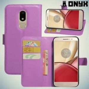 Чехол книжка для Moto M - Фиолетовый