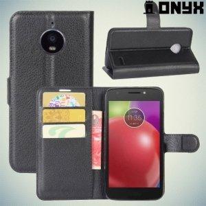 Чехол книжка для Motorola Moto E4 - Черный