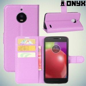Чехол книжка для Motorola Moto E4 - Фиолетовый