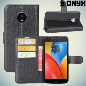 Чехол книжка для Motorola Moto E4 Plus - Черный