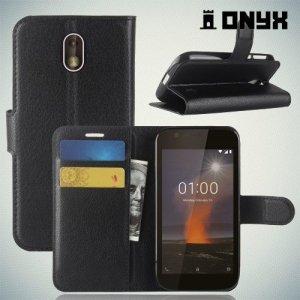 Чехол книжка для Nokia 1 - Черный