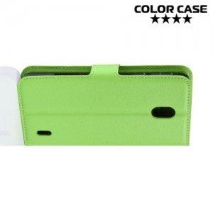 Чехол книжка для Nokia 1 Plus - Зеленый