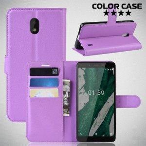 Чехол книжка для Nokia 1 Plus - Фиолетовый