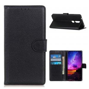 Чехол книжка для Nokia 2.4 отделения для карт и подставка Черный