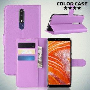 Чехол книжка для Nokia 3.1 Plus - Фиолетовый
