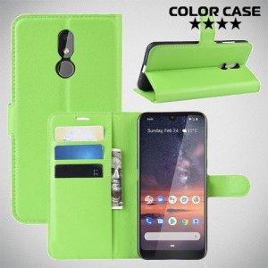 Чехол книжка для Nokia 3.2 - Зеленый