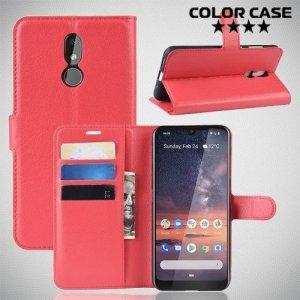 Чехол книжка для Nokia 3.2 - Красный