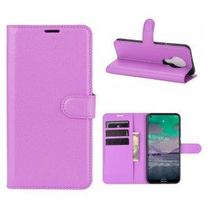 Чехол книжка для Nokia 3.4 отделения для карт и подставка Фиолетовый