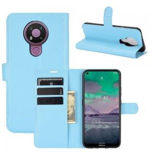 Чехол книжка для Nokia 3.4 отделения для карт и подставка Синий