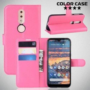 Чехол книжка для Nokia 4.2 - Розовый