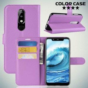 Чехол книжка для Nokia 5.1 Plus - Фиолетовый