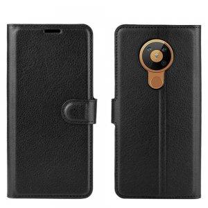 Чехол книжка для Nokia 5.3 отделения для карт и подставка Черный